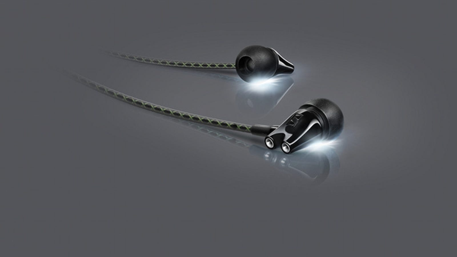 metal earbuds braided
