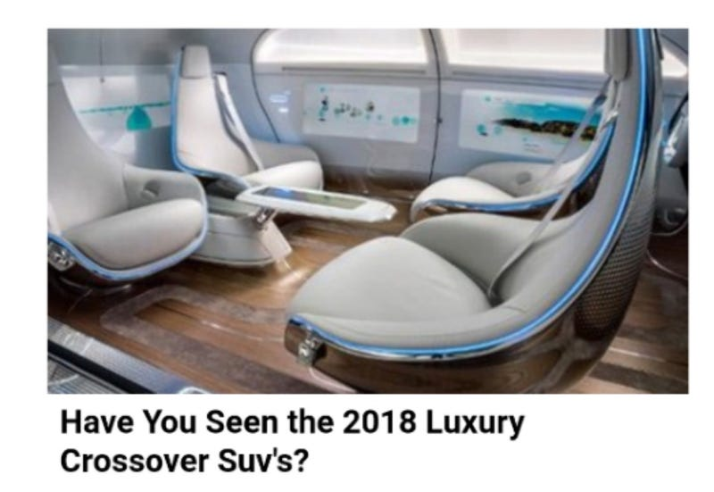 Illustration for article titled What 2018 SUV Looks Like This Inside???