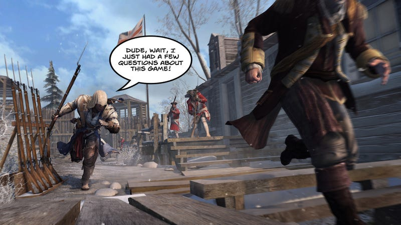 Illustration for article titled Assassin's Creed III Developers Defend Their Game
