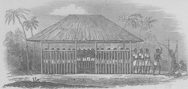 A slave barracoon in Sierra Leone (Photobucket)
