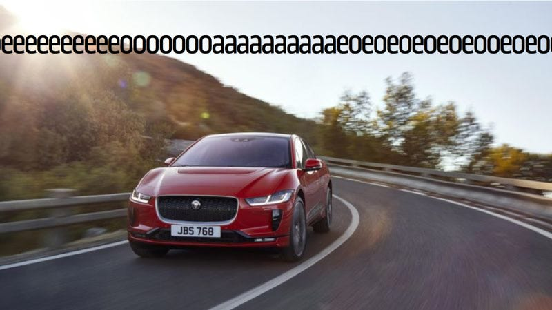 Illustration for article titled The Fake Sounds Produced By The Jaguar I-Pace Make Me Weep For The Future