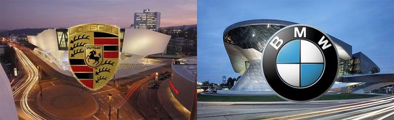 Illustration for article titled German Automaker Museum Design Showdown: Porsche Vs. BMW