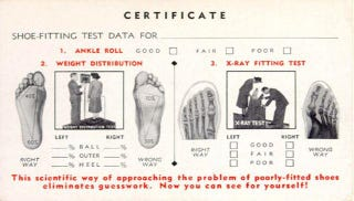 Illustration for article titled When X-rays were given in shoe stores