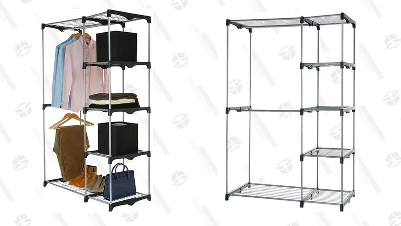 AmazonBasics Double Rod Freestanding Closet | $23 | Amazon Graphic: Erica  Offutt