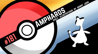 Illustration for article titled Amplified Ampharos!  Pokemon One a Day, Series 2!
