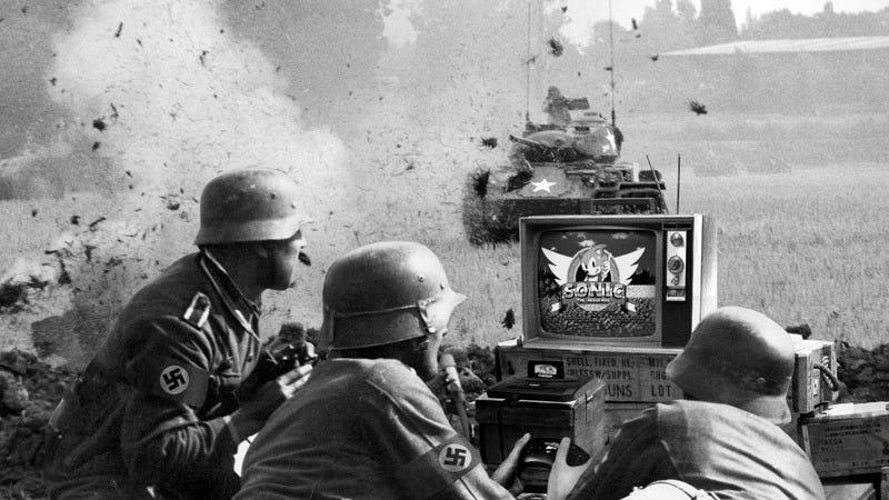 Nazis playing Sonic.