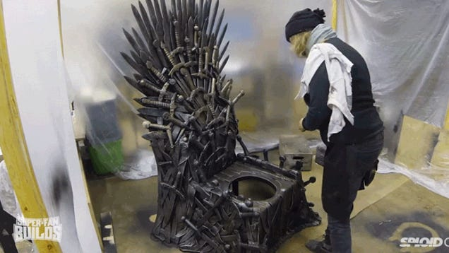 This Game Of Thrones Iron Throne Toilet Must Be So