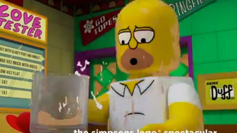 Illustration for article titled Here's an actual glimpse of the Simpsons' Lego episode