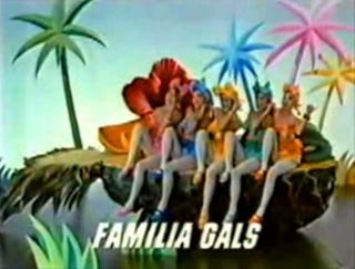 Illustration for article titled Mazda Familia Gals Float To Honolulu On Giant Pineapple, 1984 Car Buyers Perplexed