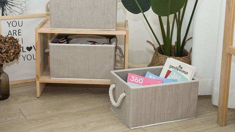 StorageWorks Decorative Storage Bins Large 3-Pack | $13 | Amazon | Promo code OLVLRG2P