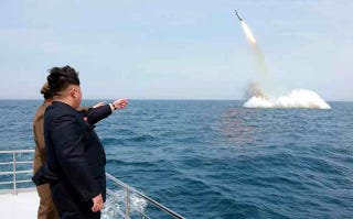 Illustration for article titled North Korea Tests Sub-Launched Ballistic Missile Capability. Now What?
