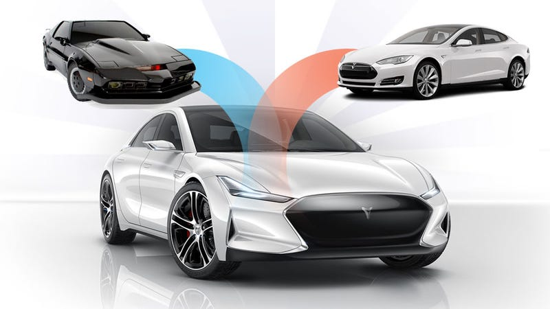 Illustration for article titled China Combines Knight Rider,Tesla To Make Ultimate Model S Knockoff