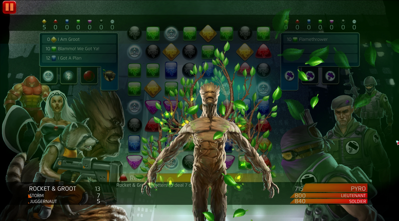 Illustration for article titled Rocket Raccoon And Groot Are One In Marvel Puzzle Quest