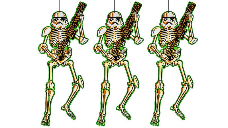 Illustration for article titled Hanging Stormtrooper Skeletons Are the Perfect Halloween Decor