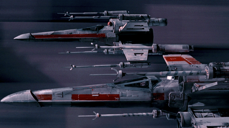 X-Wings, in attack position.