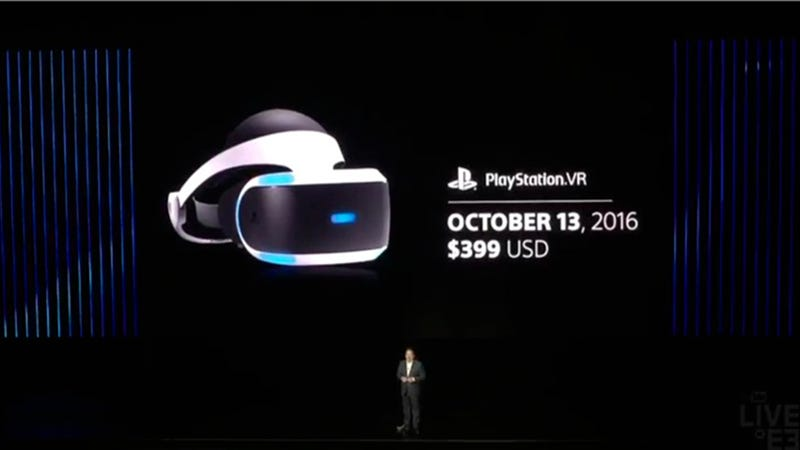 Illustration for article titled Launch Date and Price For Sony's New VR System Announced