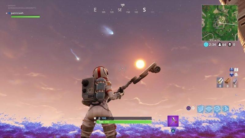 Illustration for article titled Una serie de misteriosos meteoritos en el cielo de Fortnite ha desatado la locura entre sus jugadores