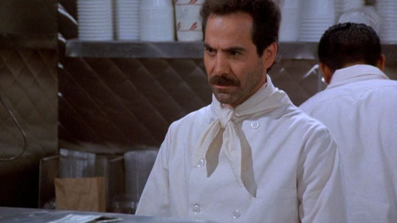 """Illustration for article titled Seinfeld: """"The Hot Tub""""/""""The Soup Nazi"""""""