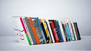 Illustration for article titled This Bookend Is So Minimalist You Can't Even See It