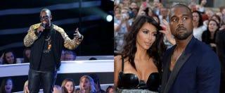 Jay Pharoah; Kim Kardashian and Kanye WestMark Davis/Getty Images; Anthony Harvey/Getty Images