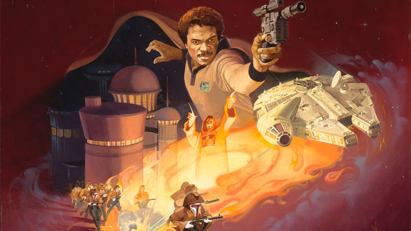 Space wizards, flamewinds, and more in the original cover art for Lando Calrissian and the Flamewind of Oseon.