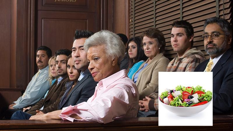 Illustration for article titled Are You Impartial Enough About Salad To Be A Juror On A Case That Heavily Involves Salad?