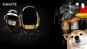 Dwhite - Powered by Caffeine, Daft Punk, and Corgis logo