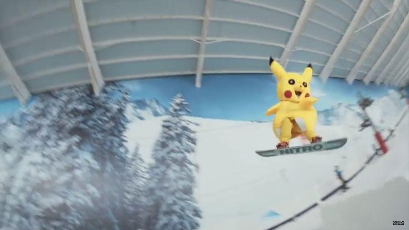 Pokemon Go - Catching Pikachu (Screenshot: YouTube)