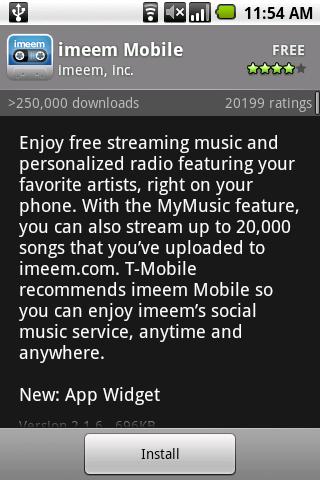 Illustration for article titled imeem Mobile