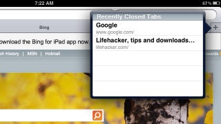 Illustration for article titled Reopen Recently Closed Tabs in Safari for iPad