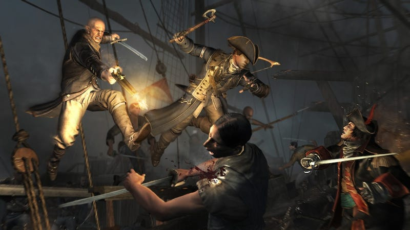 Illustration for article titled With Its Sweeping Nautical Battles, Assassin's Creed III Finally Goes Full Pirate