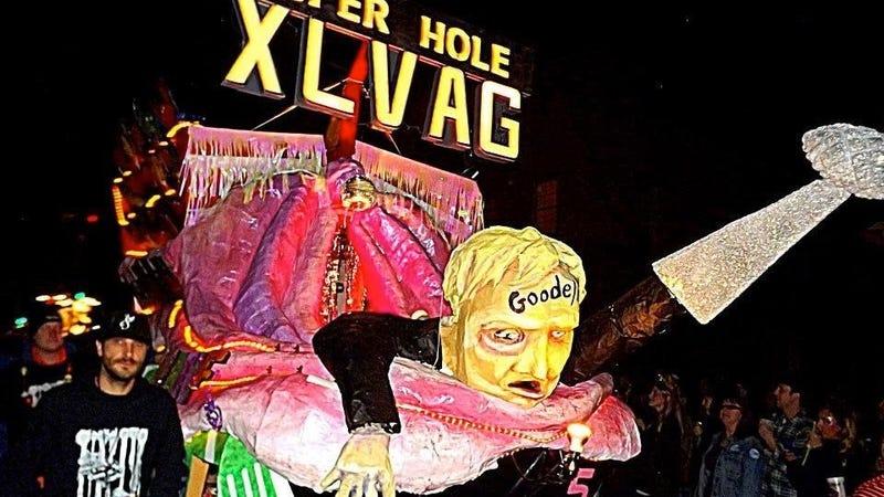 Image result for roger goodell mardi gras float