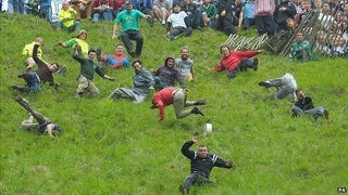 Illustration for article titled Cheese-Rolling Champion Indifferent to Cheese