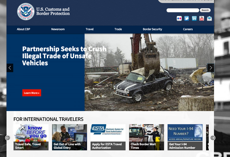 Illustration for article titled The CBP Is Bragging About Mini Destruction Right On Their Homepage