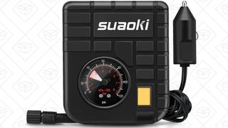 Mini compresor de aire Suaoki 12V | $10 | Amazon | Código promocional KLYWOJ6J