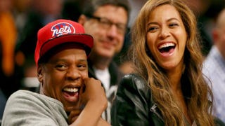 Beyoncé and Jay Z attend Game 6 of the Eastern Conference Quarterfinals during the 2014 NBA Playoffs at the Barclays Center on May 2, 2014 in Brooklyn, N.Y.Elsa/Getty Images