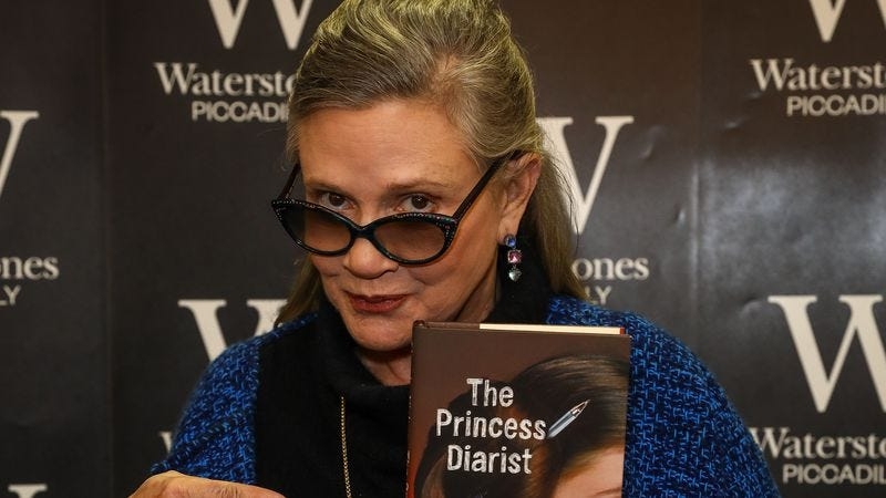Carrie Fisher promoting her new book The Princess Diarist on December 11 in London. (Photo: David M. Benett/Dave Benett/Getty Images)