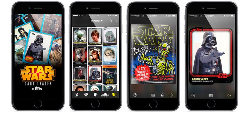 Illustration for article titled Topps' New App Lets You Trade Star Wars Cards With Anyone On Earth
