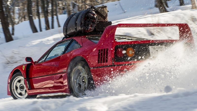 Illustration for article titled Here's How They Made That Mind-Blowing Ferrari F40 Snow Rally Video In Japan