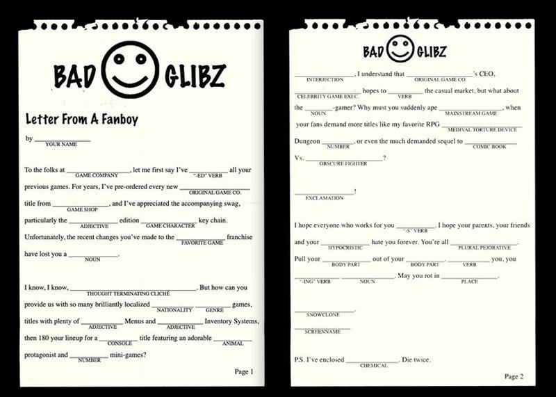 Illustration for article titled Your Insane Fanboy Form Letter