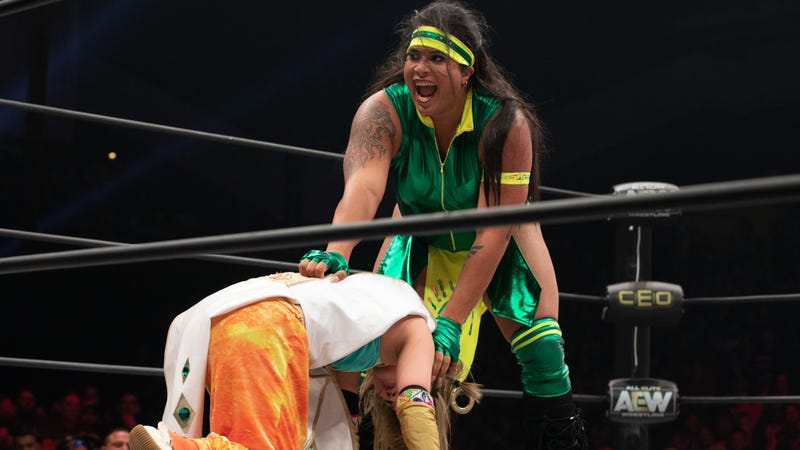 Nyla Rose picks up Yuka Sakazaki at AEW Fyter Fest in June.