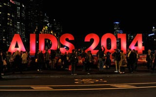 Preparations get under way for the International AIDS Conference in Melbourne, Australia, on July 18, 2014.STR/AFP/Getty Images
