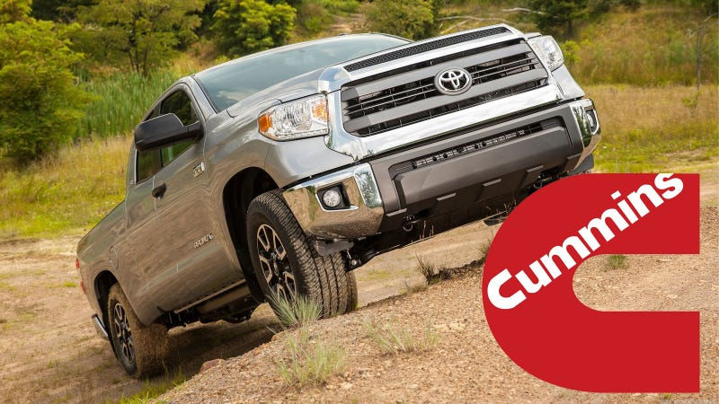 2015 Nissan Titan And 2016 Toyota Tundra May Share Cummins Diesel V8