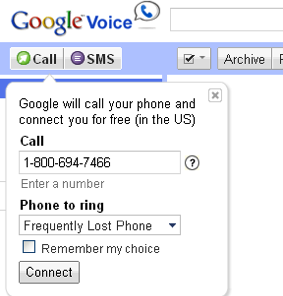 Illustration for article titled Google Voice Provides Services in Uncovering Lost Cell Phones