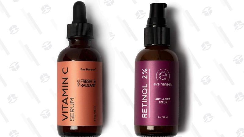 Eve Hansen Vitamin C Serum   $10   Amazon   Clip the $2 couponEve Hansen Retinol Serum   $12   Amazon