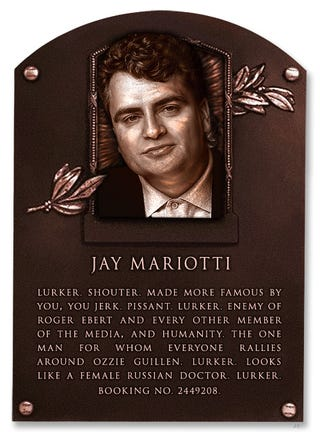 Illustration for article titled Deadspin Hall Of Fame Inductee: Jay Mariotti
