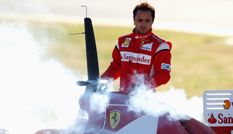 """Illustration for article titled Felipe Massa doesn't wash his """"special underwear"""""""