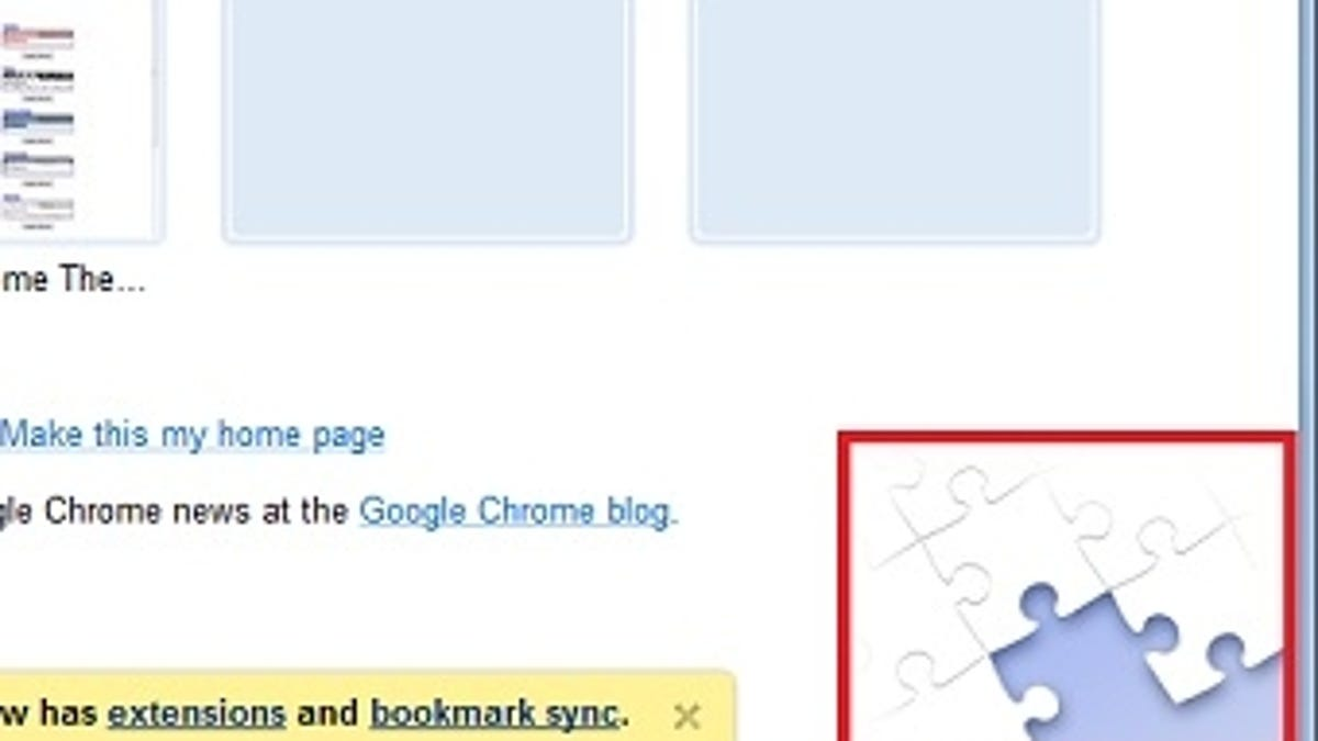An Early Look at Chrome's Extensions System