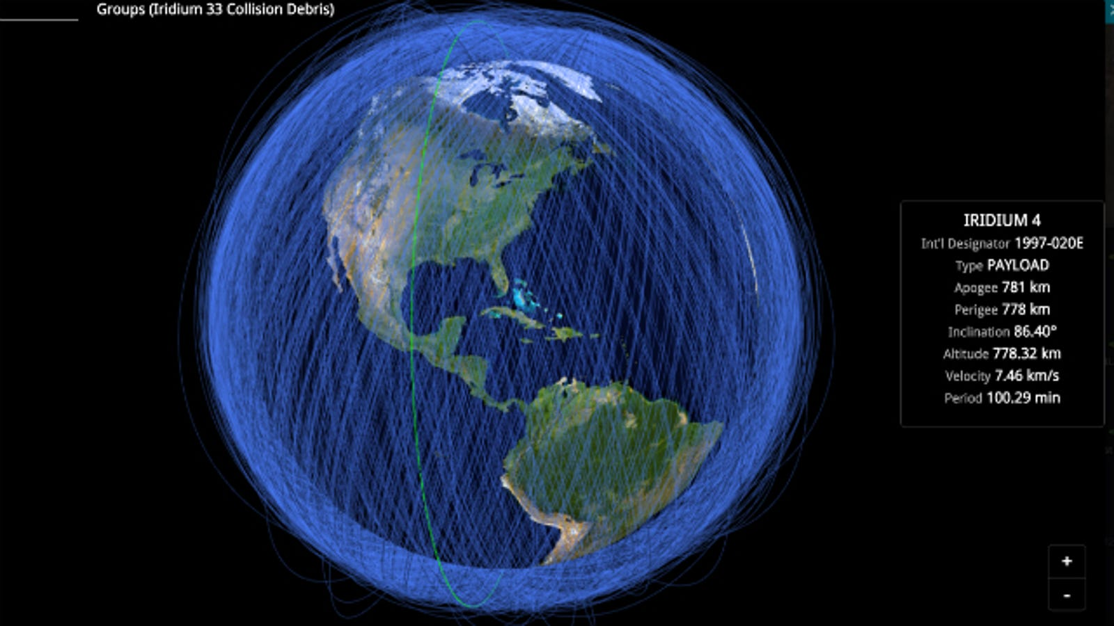 Here's a Real-Time Map of All the Objects in Earth's Orbit