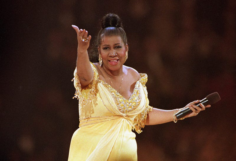 """In this Jan. 19, 1993 file photo, singer Aretha Franklin performs at the inaugural gala for President Bill Clinton in Washington. Franklin died Thursday, Aug. 16, 2018, at her home in Detroit. She was 76. Throughout Franklin's career, """"The Queen of Soul"""" often returned to Washington - the nation's capital - for performances that at times put her in line with key moments of U.S. History."""